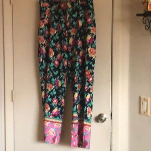 Palazzo Slacks with elastic waist and button front